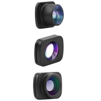 3-In-1 szeroki kąt obiektyw makro typu rybie oko zestaw do nagrywania wideo dla DJI Osmo kieszeń kieszeń 2 Vlog kieszeń kardana ręczna soczewki akcesoria do tanie i dobre opinie Fasdga 13 ostrza CN (pochodzenie) Szerokokątne Podróży Obiektyw o stałej ogniskowej NONE Automatyczne Brak Gimbal Accessories Kits