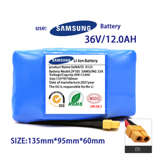 אמיתי 36V סוללה חבילות 6.0AH 12AH נטענת ליתיום יון סוללה עבור חשמלי עצמי איזון קטנוע HoverBoard חד אופן