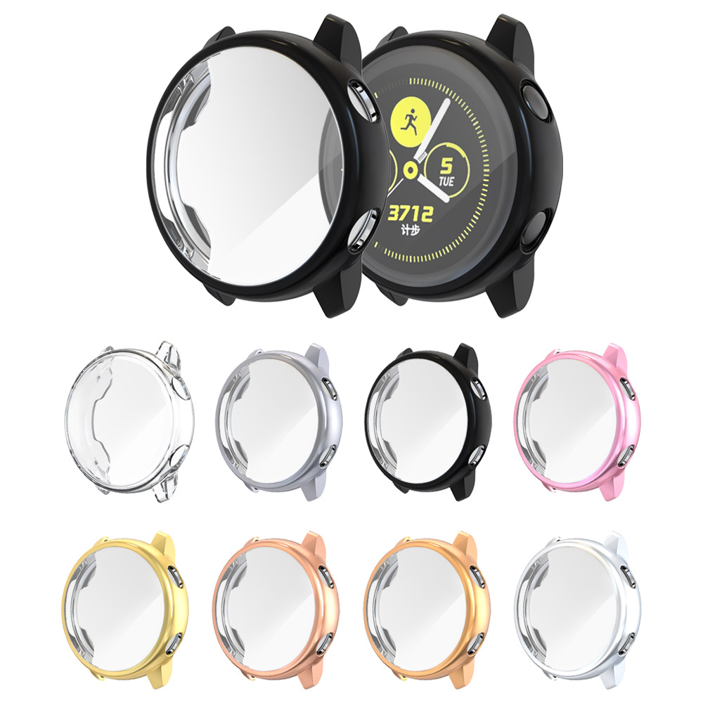 Case For Samsung Galaxy Watch Active Case Bumper Protector Full Coverage Soft Silicone Screen Protection Cover  Accessories