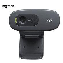 Оригинальная веб-камера logitech C270 HD Vid 720P со встроенным микрофоном USB2.0 Мини-Компьютерная камера для ПК ноутбука