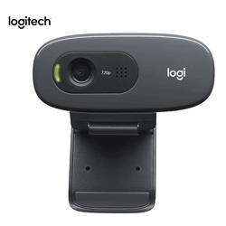 Original Logitech C270 HD Video 720P Webcam construido-en el micrófono USB2.0 Mini computadora Mini cámara para PC portátil