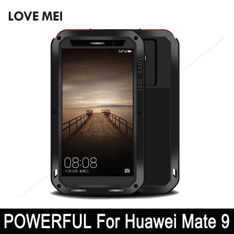 Amor mei poderoso caso para huawei companheiro 20 lite 9 caso de telefone para huawei companheiro 9 pro anti knock alumínio gorilla glass telefone caso - 2