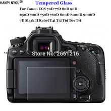 For Canon EOS 70D 77D 80D 90D 650D 700D 750D 760D 800D 8000D 9000D 6D 7D Mark II Tempered Glass Camera LCD Screen Protector Film(China)