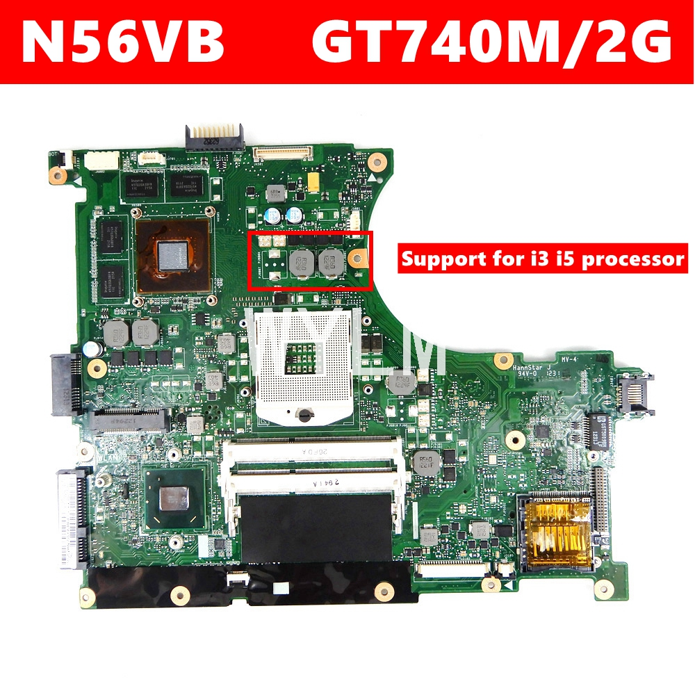 N56VB GT740M 2GB Mainboard REV2.3 For ASUS N56VB N56VM N56VZ N56VJ N56VV N56V Laptop Motherboard 100% Tested Working
