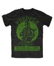 Prepper T-Shirt Apocalypse, Survival, Protection, Disaster, Crisis, Zombie, Hunt, Hunt 2019 Summer Cotton Men Tee Shirt