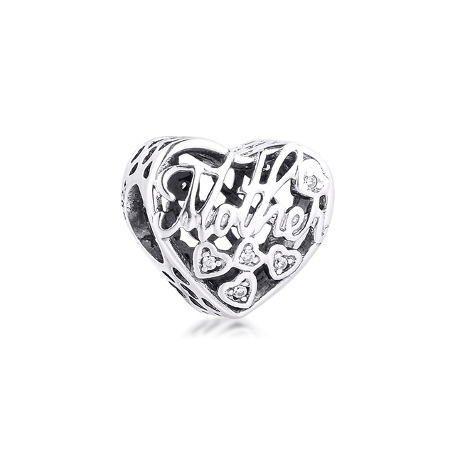 Fits Pandora Bracelet 925 Sterling Silver Mother & Son Bond Charm Silver Beads for Jewelry Making Party Gift for Women kralen