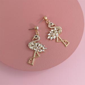 FASHIONSNOOPS Luxury Clear Color Rhinestone Animal Drop Earrings Crystal Pendant Dangle Earrings For Women Party Jewelry Gifts