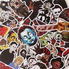 Blinghero Cruel Killers Stickers 37Pcs/set Michael Myers Stickers Photo Decals Collection Luggage Skateboard Stickers BH0115