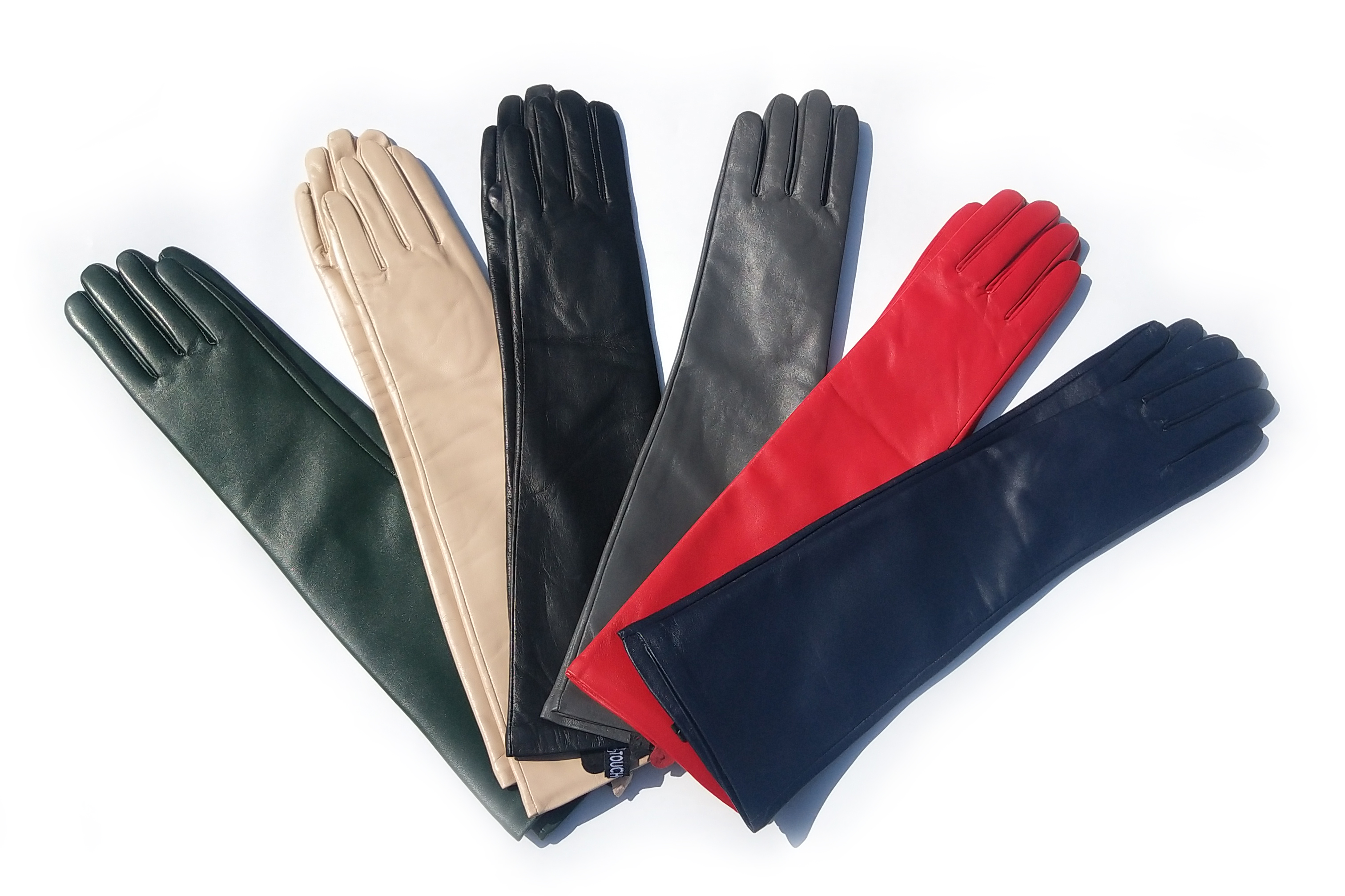 Women Winter Warm Real Leather Classic Real Sheep Leather Elbow Long Gloves