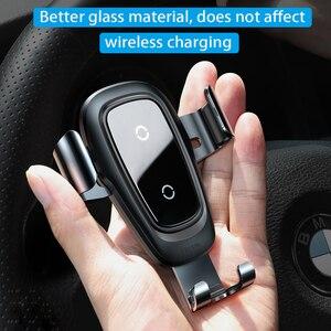Image 4 - Baseus Автомобильный держатель для телефона 10 Вт qi Беспроводное зарядное устройство для iPhone X Samsung S10 S9 S8 держатель для телефона автомобильное зарядное устройство для телефона в вентиляционное отверстие