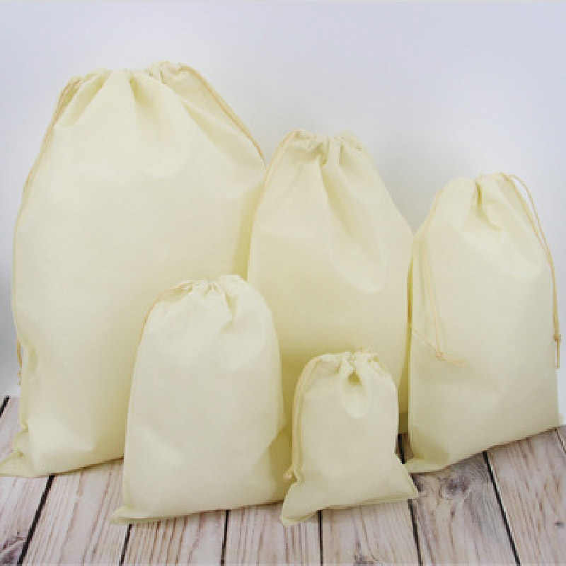 Herbruikbare Trekkoord Boodschappentas Eco Draagtas Opvouwbare Boodschappentassen Vrouwen Mannen Reizen Opbergzakken Vrouwelijke Shopper Tassen Aanpassen