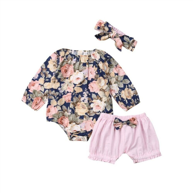 bandeau Tenues Vêtements Short Toddler Infant Bébé Filles Floral Imprimé Tops