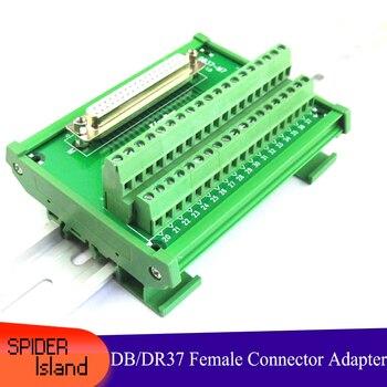 DB37 DR37 kobieta 37pin Port na Terminal Adapter konwerter PCB tabliczka zaciskowa montaż ze wspornikiem DB37-M7