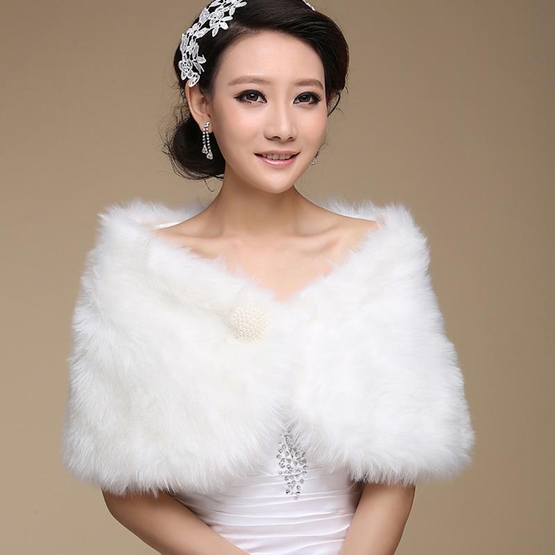 Hot New Wedding Bolero Outerwear Accessories Urged Wrap Bride Formal Winter Cape Bride Fur Shawl Wedding Jackets Wrap OJ00169