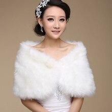 Wedding Bolero Outerwear Accessories Urged Wrap Bride Formal Winter Cape Fur Shawl Jackets OJ00169