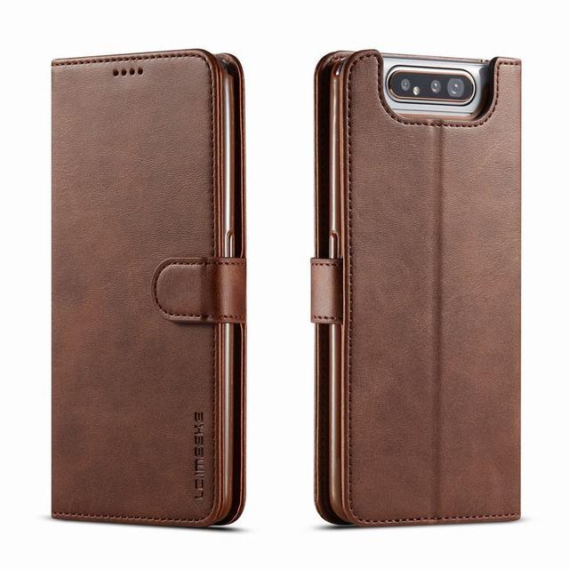 Luxury Case For Samsung Galaxy A90 Case Flip Book Wallet Magnetic Cover Samsung Galaxy A80 Case Leather Vintage PU Phone Cases