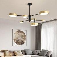 Nordic living room chandelier LED modern minimalist creative personality restaurant bedroom lamp macaron gloss lighting