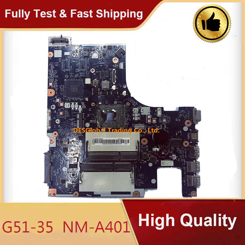 Original For Lenovo G51-35 Laptop Motherboard DDR3 Mainboard BMWQ3/BMWQ4 NM-A401 Working Perfectly Fast Shipping
