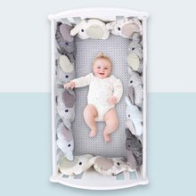 Baby Bedding Set Crib Cot For Newborn Baby Bed Bumper Cute Elephant Bumper Cotton Pillow Cushion Room Decoration Stuffed Toy