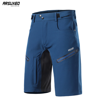 ARSUXEO 2020 Men MTB Cycling Shorts With 5D Gel Padded Loose Fit Outdoor Sports Underpant Bicycle Short Downhill Biker 2006 цена 2017