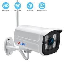 BESDER 오디오 Wifi 카메라 1080P ONVIF 무선 알람 푸시 iCsee P2P 2MP CCTV 총알 SD 카드 슬롯 최대 64GB 야외 IP 카메라