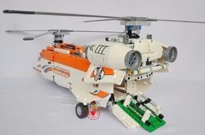 Image 4 - Neue MOC Power Funktion Hubschrauber Fit Technic Stadt Modell Bricks Building Block Junge DIY Spielzeug Kind Geschenk Geburtstag Jungen 9396 42052