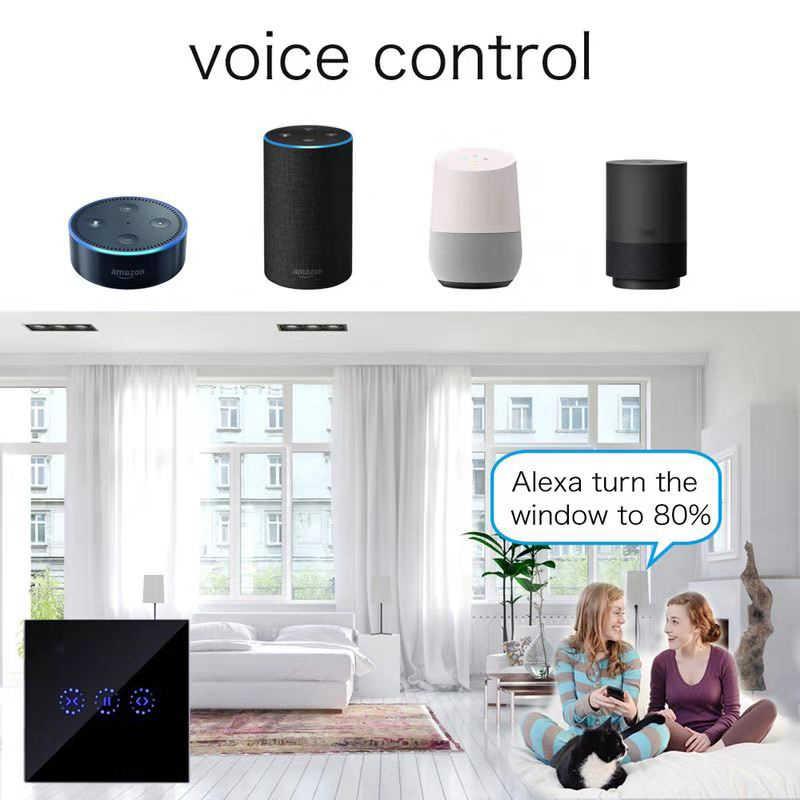 Ewelink Uni Eropa US Wifi Tirai Blind Switch untuk Roller Shutter Motor Listrik Google Home Alexa Echo Kontrol Suara DIY Smart rumah