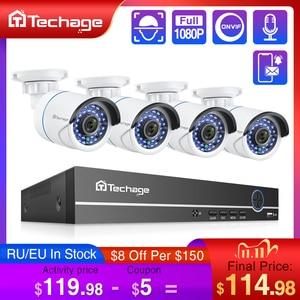 Image 1 - Techage 8CH 1080P POE NVR CCTV System 2MP Audio Microphone IP Camera IR Outdoor Waterproof P2P Video Security Surveillance Set