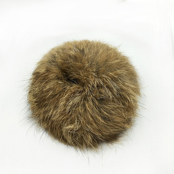 Accesorio de pelo de cola de caballo de piel de conejo Real elástico de pelo de felpa suave 2019 para niña