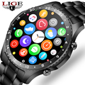 LIGE 2021 New Men Smart Watch Full Touch Screen Sports Fitness Watch Waterproof Bluetooth Call For Android IOS smartwatch Mens