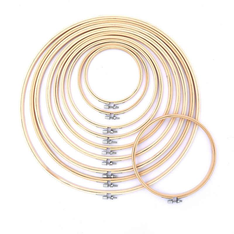 10-40 centímetros mini madeira bastidor quadro para kit anel hoop grandes ferramentas acessórios de costura bordado cruz de madera ponto De Bambu