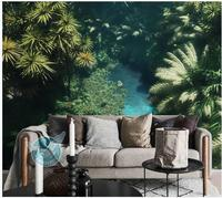 beautiful scenery wallpapers green Landscape background wall decoration painting