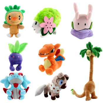 15-38cm plush Salamence Exeggutor Goomy Charizard Chespin Shaymin Oddish stuffed soft good quality Christmas gift for kid image