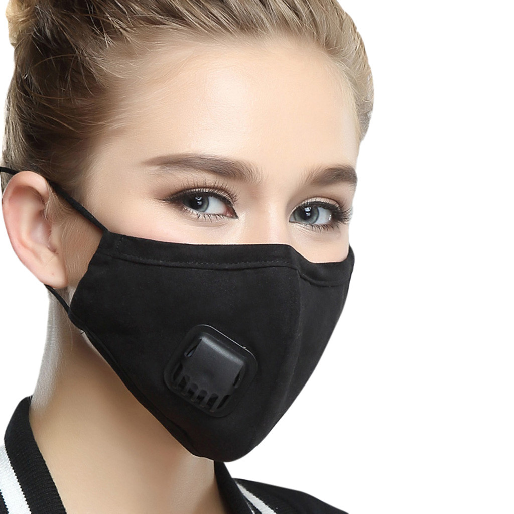 NIOWORLD Anti Pollution Face Mask Mouth Black Mask Men Lady Anti Dust Muzzle PM2.5 Antibacterial Trip Protection Mouth Mask