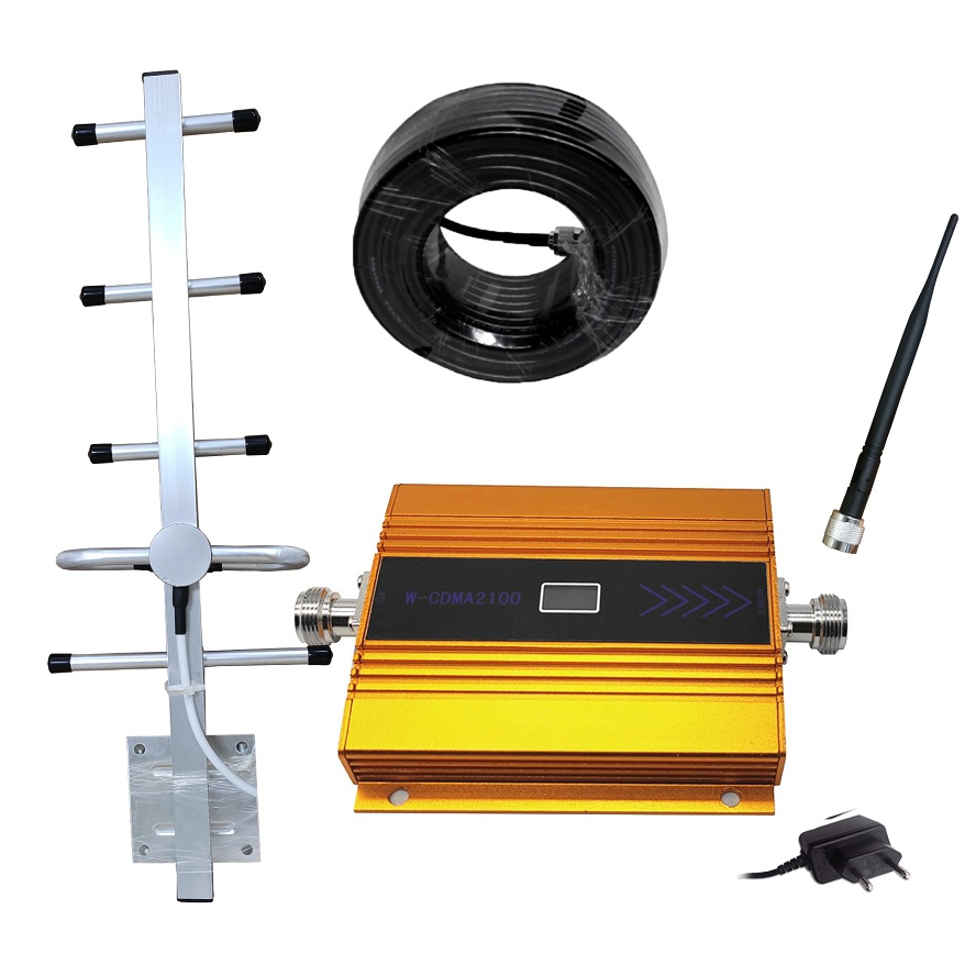 Full Set (LTE Band 1) 2100 MHz UMTS Mobile Signal Booster 3G (HSPA) WCDMA 2100MHz 3G UMTS Cellular Repeater Amplifier