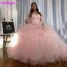 Женское бальное платье с оборками бисером на 15 лет