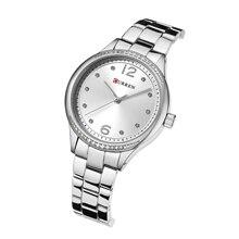 CURREN Female Watch Classic Luxury Diamond Design Women Watches Hardlex Mirror Stainless Steel Water Resistant Horloges Vrouwen