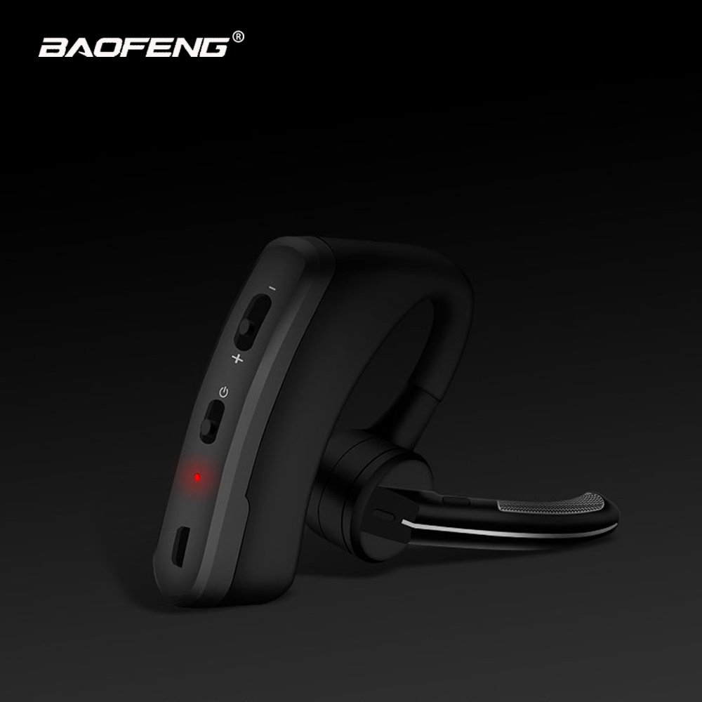 Wireless Walkie Talkie Bluetooth Ptt Headset Earpiece For Baofeng K Port Microphone Headset Adapter Baofeng UV-5R UV-82 Earphone