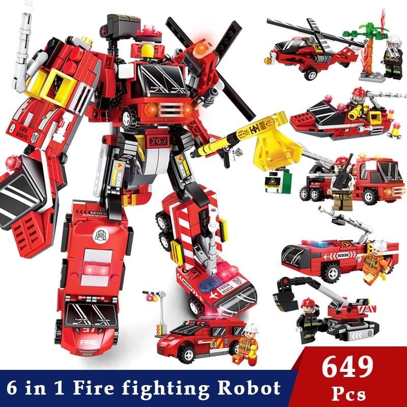 Image 3 - Transformation Building Blocks Compatible Major Brands City Trucks Car Helicopter Brick Toy For ChildrenBlocks   -