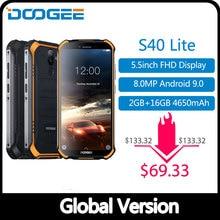 IP68 DOOGEE S40 Lite Rugged Phone Mobile Phone 5.5inch Display 4650mAh 8.0MP Fin