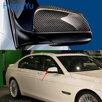 Para bmw série 7 f03 2009 2010 2011 100% real fibra de carbono espelho retrovisor capa espelho lateral caps estilo do carro