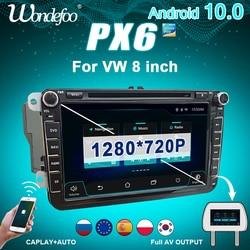 PX6 автомагнитола 2 DIN Android 10 магнитола автомобильное радио для быстрого VW passat b6 golf 5 6 polo tiguan Seat Altea Toledo BORA 2DIN Авто аудио стерео экран