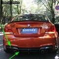 Для BMW E82 1 м модифицированный комплект задней части кузова из углеродного волокна бампер диффузор 2011 2012 2013