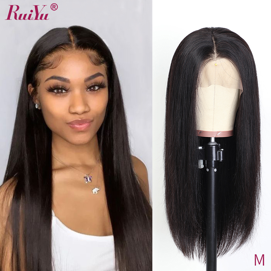 Straight Lace Front Wig For Women Glueless Lace Front Human Hair Wigs Pre Plucked Frontal Wigs Brazilian Human Hair Remy RUIYU