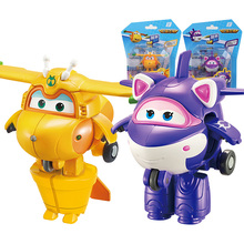 Newest Mini Super Wings Transformation Mini Airplane ABS Robot Toy Action Figures Super Wing Krystal/Bucky Deformation Toys 19cm height transformation deformation robot toy action figures toys with original box jj616c