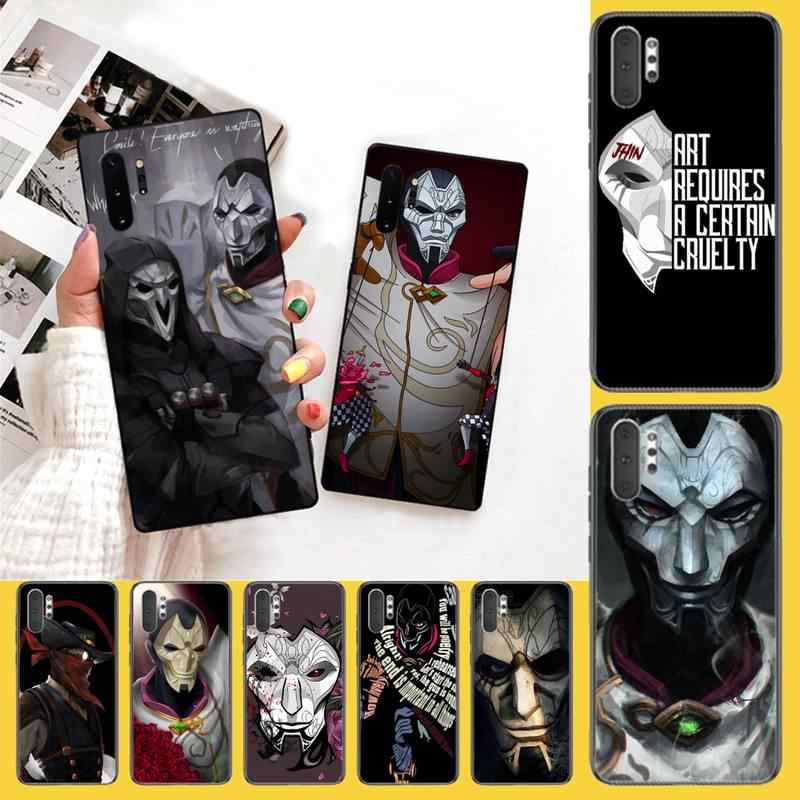 PENGHUWAN Jhin LOL League of Legends Black Soft  Phone Case Capa For Samsung Galaxy J7 J8 J6 Plus 2018 Prime Note 7 8 9 10 pro