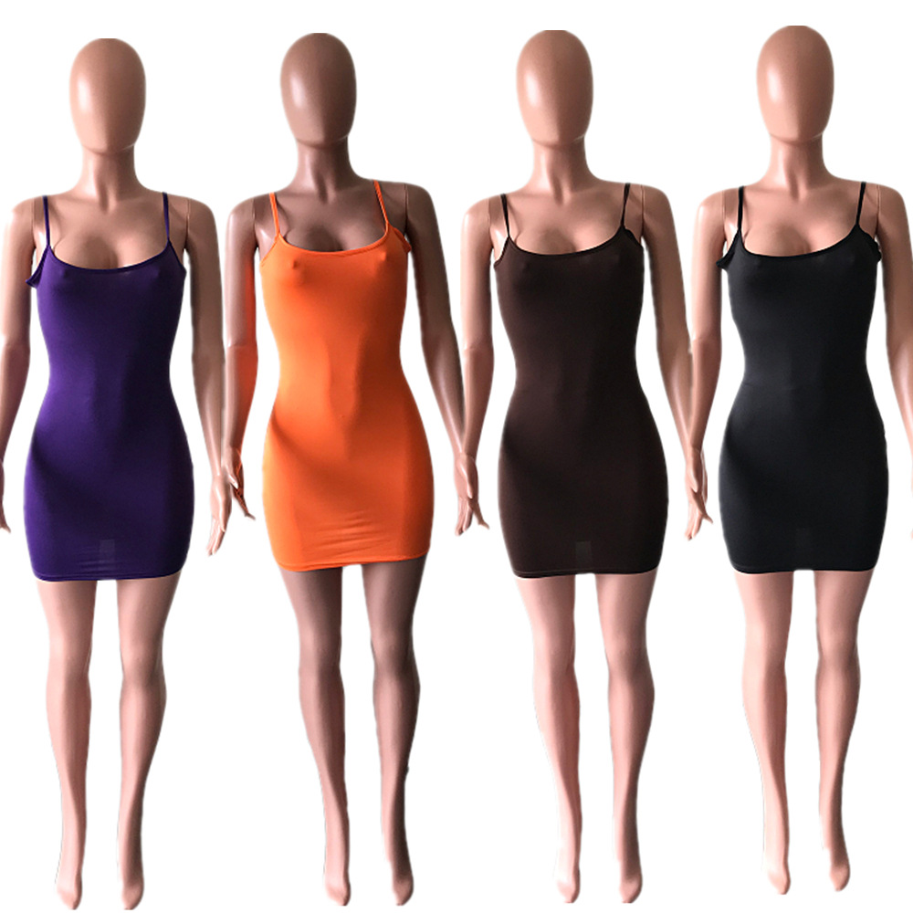 10$ Free shipping Manufacturers Sell M5007 Quick-selling <font><b>Ebay</b></font> Women's Fashion Sexy Tight Back Sling Dress image