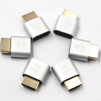 HDMI Virtual Display 4K HDMI DDC EDID Dummy Plug EDID Display Cheat Virtual Plug HDMI Dummy Emulator Adapter for Bitcoin Mining 2