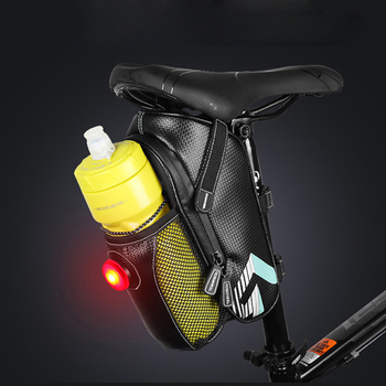 Bicycle Saddle Bag With Water Bottle Pocket Waterproof MTB Bike Rear Bags Cycling Rear Seat Tail Bag Bike Accessories rockbros bicycle saddle bag bike mtb road bike tools seat bag water bottle cycling bag waterproof cycling rear seat tail bag