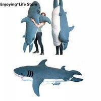 Гигантская большая акула спальная кровать спальный мешок Beanbag диван кровать плюшевая мягкая подарочная